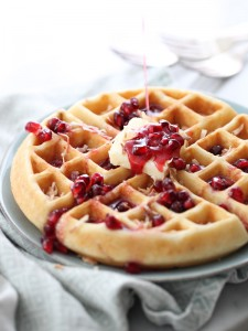 pomegranate waffles